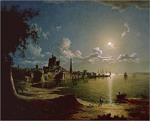 Impression sur bois 50 x 40 cm: Moonlight Scene, Southampton de Sebastian Pether / Bridgeman Images
