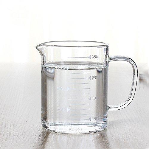 asentechuk® de alta borosilicato cristal transparente jarra medidora de grado de alimentos...