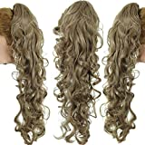 TianWlio Perücken DamenLanges Clip-In Lockig Klaue Kiefer Pferdeschwanz Clip In Haarverlängerungen Wellenförmiges Haarteil