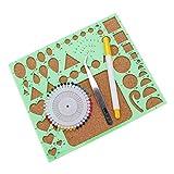 HuntGold ?4 Stück / Set DIY Scrapbooking Papier Quilling Vorlage Form Board Papier Handwerk Werkzeug Grün