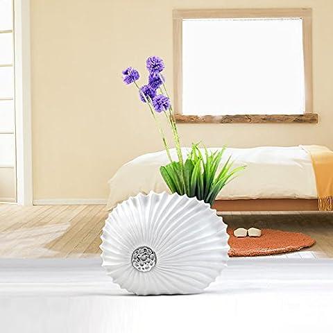Lx.AZ.Kx D'objets de décoration intérieure moderne minimaliste Continental Résine ornements créatifs Vases nouveau Salon avec processus ornements,Petit Vases Seashell
