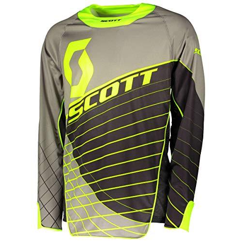 Scott Enduro MX Motocross Jersey/DH Fahrrad Trikot grau/schwarz/gelb 2018: Größe: XXL (54/56)