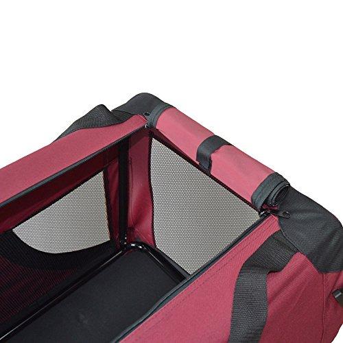 Hundetransportbox Hundebox faltbar Transportbox Autotransportbox Faltbox Transportasche 401-D02 Farbe: marrone, Grösse: S -