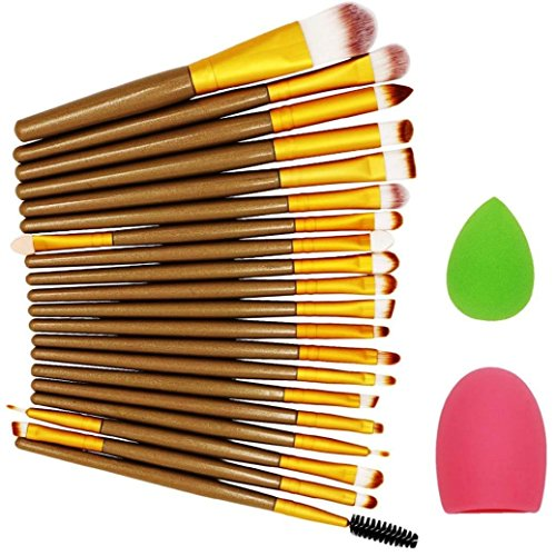 Fulltime®22 pcs pinceau de maquillage Maquillage éponge pinceau de maquillage Cleaner Foundation Brush