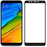 Plus 3D Premium Edge to Edge Full Glue , No Rainbow , Full Front Body Cover Tempered Full Glass Screen Protector Guard for Redmi Note 5 Pro - Black