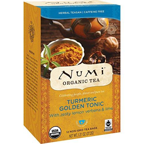 Numi Organic | Turmeric Tea - Golden Tonic | 4 x 12 Bags (UK)