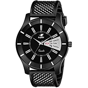 Espoir Analogue Black Dial Day and Date Boy's and Men's Watch - Demon0507