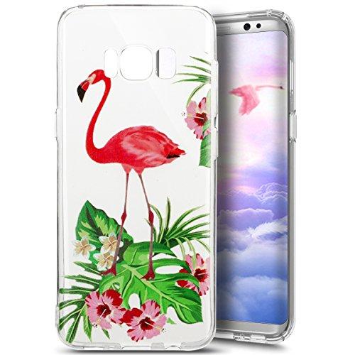 Preisvergleich Produktbild Galaxy S8 Plus Hülle, Galaxy S8 Plus Silikon Schutzhülle Transparent,Ukayfe Flamingo Blumen Muster TPU Case Hülle Ultradünne Silikon Gel Schutzhülle Durchsichtig Kristall Klar Silikon Schutz Handy Hülle Case Tasche Etui Bumper Kratzfeste TPU Bumper Rückseite Handy Tasche Case für Samsung Galaxy S8, Flamingo Blumen