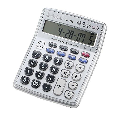 Aibecy Calculadora funciones musicales LCD portátil
