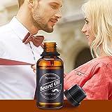 Skymore Natural Beard Oil-Moisturizing Smoothing-Gentlemen Beard Care Conditioner 30ML-Premium Quality-Macadamia seed oil jojoba oil