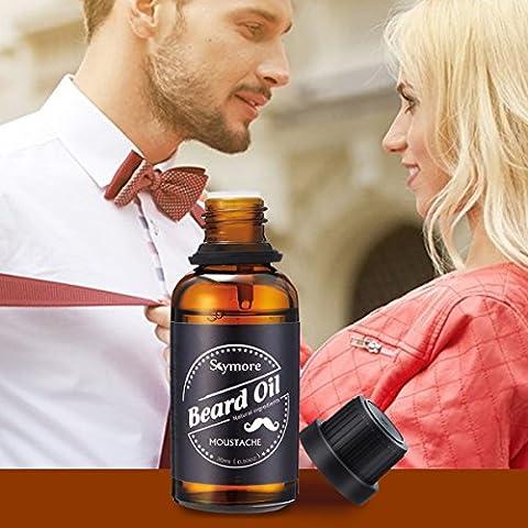 Skymore Natural Beard Oil-Moisturizing Smoothing-Gentlemen Beard Care Conditioner 30ML-Premium Quality-Macadamia seed oil jojoba