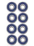 8 Stück 608 2RS Lager Skateboard Kugellager Longboard Kugellager, Doppelt Abgeschirmt (Blau)