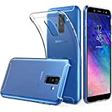 Peakally Samsung Galaxy A6 Plus 2018 Hülle, Soft Silikon Dünn Transparent Hüllen [Kratzfest] [Anti Slip] Durchsichtige TPU Schutzhülle Case Weiche Handyhülle für Samsung Galaxy A6 Plus 2018 6.0