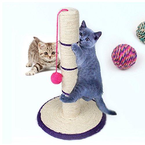 Katze Heimtierbedarf Klettern Frame Leiter Sisal Spielzeug Katze 30 * 45cm,Dunkel blau-freie Maus