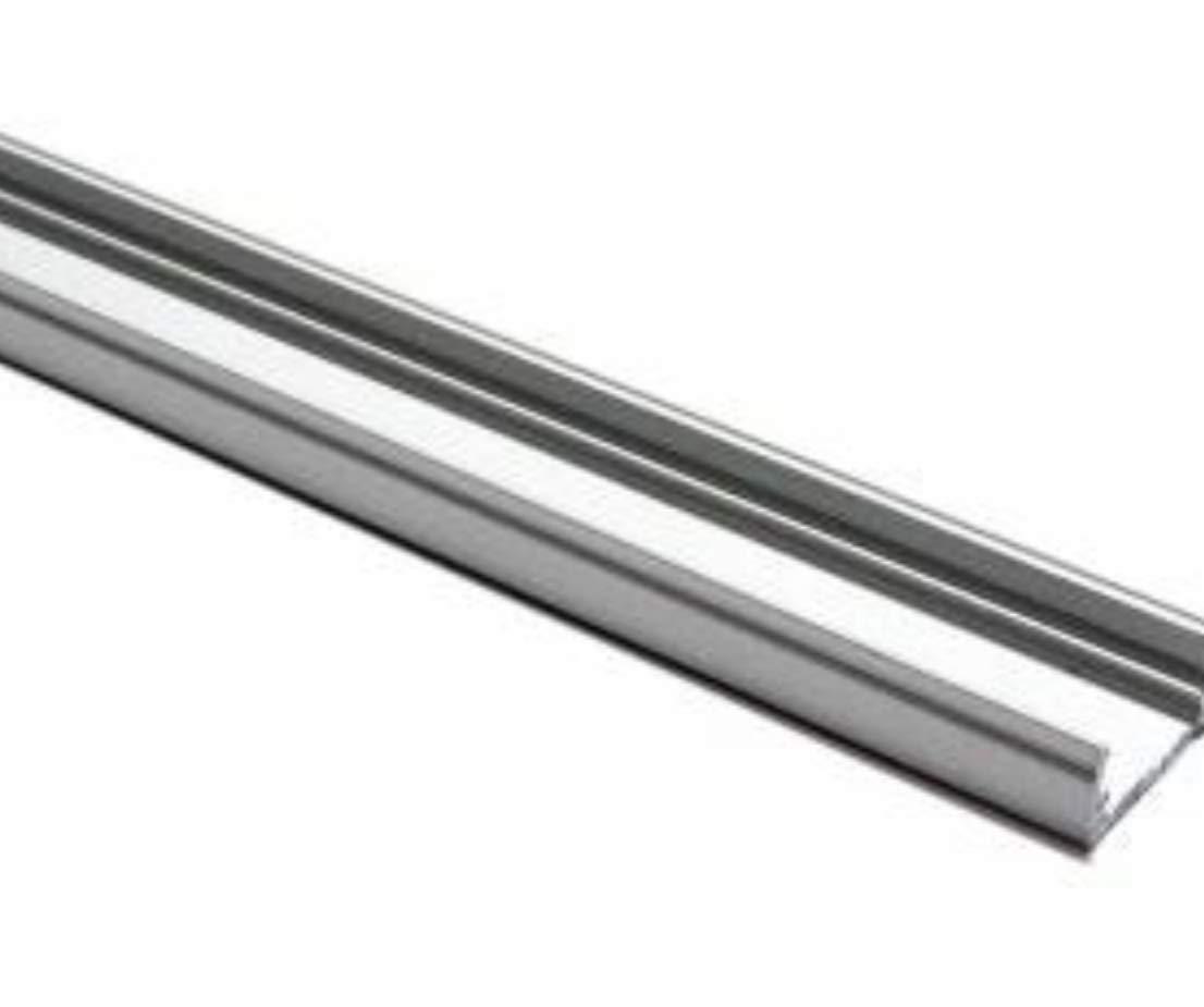 LED Atomant Profilo in alluminio per striscia LED con copertura bianca latte, tappi delle estremità e clip di montaggio in metallo inclusi, confezione da 4