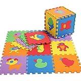 V-SOL Alfombra / Alfombrilla de Puzzle De Juego Para Niños Bebé - 30*30*1cm / 10pcs Diseño animal cartoon