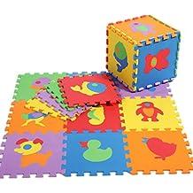 EOZY Alfombra Infantil de Juegos Para Niños Bebés Puzzle con 10 Piezas