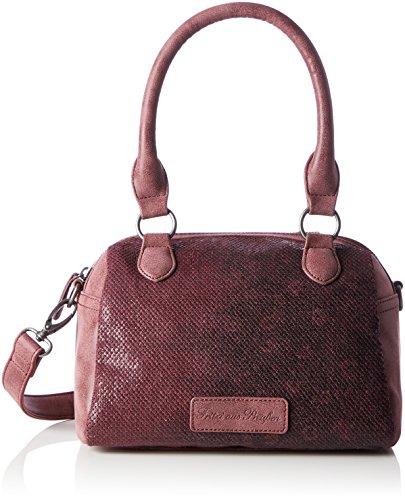 Fritzi aus Preussen Damen Juanita Business Tasche, Rot (Amarone), 12x21.5x23 cm (Tasche Leder Bowling Kleine)