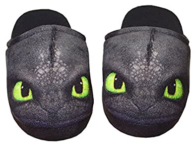 Dreamworks Dragons Enfants Chaussons Krokmou / Toothless, 31-36 noir (31-32)