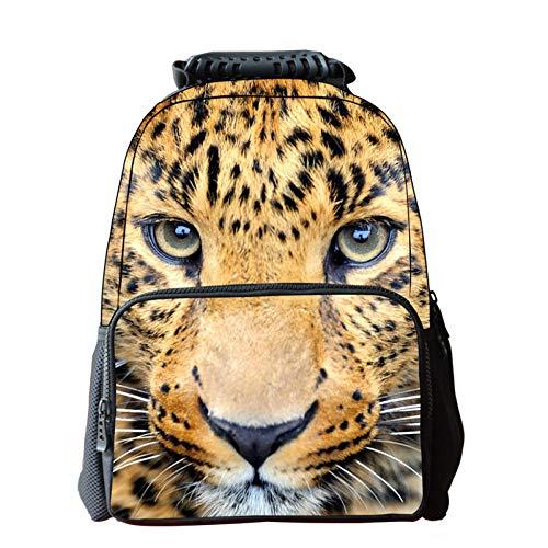 Cheetah Tier Dekoration Tasche Mode Kindertasche Lässig Outdoor-Sporttasche,A-42 * 29 * 18cm -