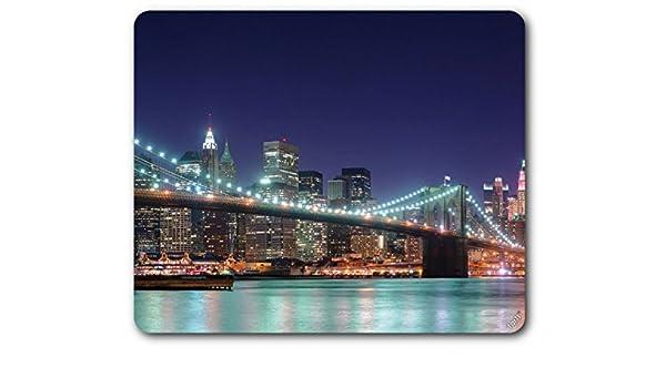 07 New York Empire State e nuvole graffi in sera luce Tappetino per il Mouse//Mouse Pad