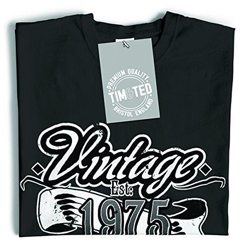 Est Vintage. 1977 40 ° Distressed disegno della novità T-Shirt Da Donna Red