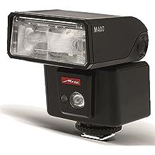 Metz 311184 - Flash M400 para Pentax (ISO 100 y 105 mm, luz de vídeo LED, zoom motorizado 24-105 mm), negro