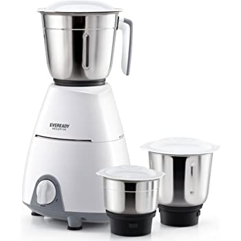 Eveready 500W Molar Dx Mixer Grinder with 3 Jar (Multicolour)