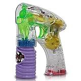 Seifenblasenpistole mit LED-Licht und Lichtstrahl