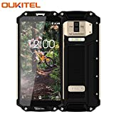 10000 mAh Outdoor Handy - OUKITEL WP2 4G LTE Smartphone Ohne Vertrag,6 Zoll 18:9 FHD+ 2160×1080 Display,4GB RAM + 64GB ROM,Android 8.0 Dual-SIM (Nano)Rugged handy(IP68 Wasserdicht, Staubdicht, Stoßfest),MT6750T 1.5GHZ Octa-core,16MP + 2MP...