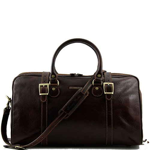 Tuscany Leather - Berlin - Sac de voyage en cuir - Petit modèle Marron - TL1014/1 Marron foncé