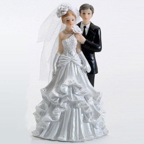 Brautpaar Ehepaar Hochzeitspaar Torte Tortenaufsatz 12cm Hochzeit Dekoration Polyresin