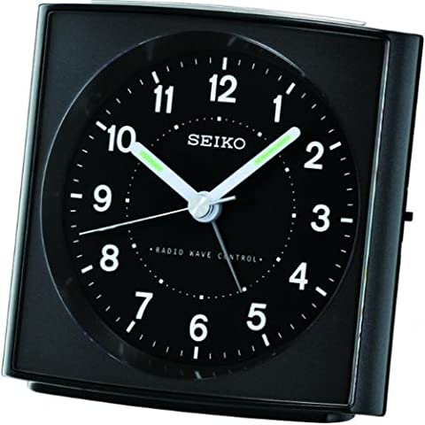 SEIKO RADIO CONTROLLED ALARM CLOCK BLACK