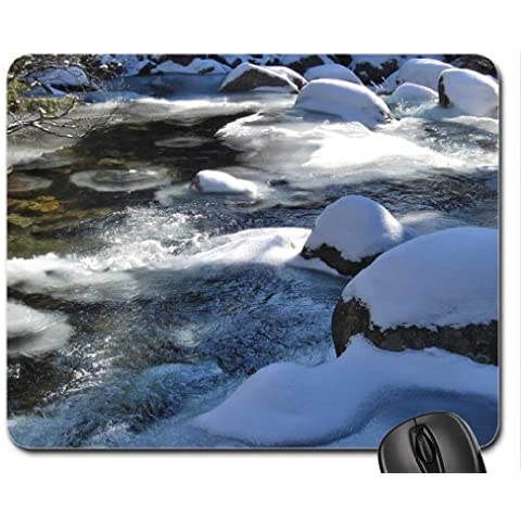 Bianco neve paesaggio invernale Mouse Pad, Mousepad (Winter Mouse Pad) #004
