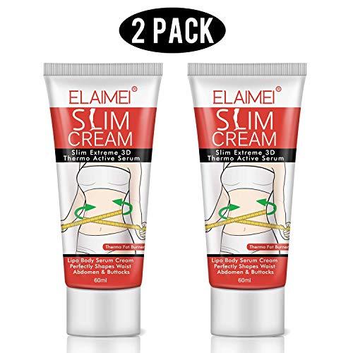 Body Toning Oil (Hot Cream (2 Pack), Body Fat Burning Cream, Weight Losing Cream, Anti-Cellulite Slim Massage Cream, Slim Cream for Shaping Waist, Abdomen and Buttocks.)