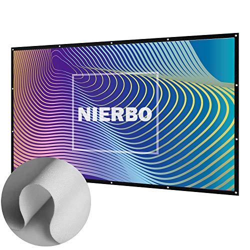 Leinwand für Beamer in Heimkino, NIERBO 120 Zoll NIERBO Beamer Leinwand für Heimkino LCD LED DLP Beamer Leinwand 16 9 3D Full HD | 273x157cm