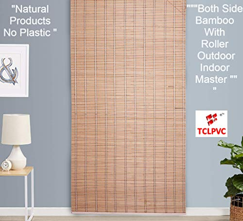 TcLpvc Only Wood Natural 5/7 ft Special Bamboo With Wooden Roller For All India Choice - Blind Wooden Curtains For Balcony - Windows - Indoors - Door - Home - Office - Hotel - Resorts - Blinds - Shades - Screens - Patio Umbrellas - Canopies - Shade - Sunscreen Fabric - Screens - Protection - Balcony Privacy - Protective Screens - Window Blind Curtain PRODUCT CODE - 1212