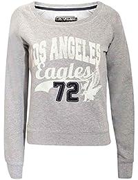 PILOT® lola L.A. haut sweat-shirt imprimé en gris