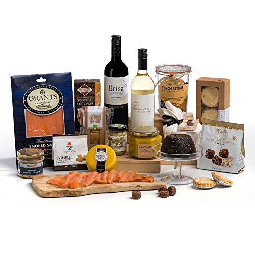 Hay Hampers Luxury Christmas Day Food & Wine Hamper Box - FREE UK Delivery