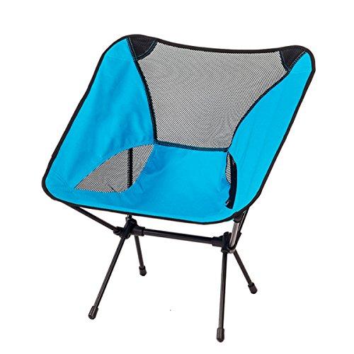 LDFN Tragbare Klappstuhl Außenstuhl Strandstuhl Skizze Stuhl Freizeit Stuhl Zurück Stuhl Angeln Stuhl Direktor Stuhl,Blue-36*30*63cm/1.18*0.98*2.07ft