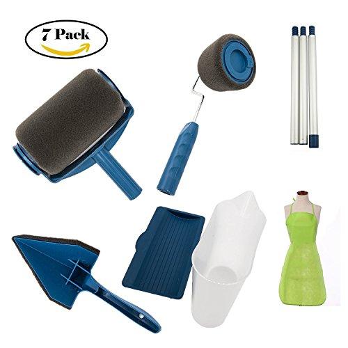 Cjsj roller spazzola pittura maniglia strumento - no prep, nessun mess. basta versare e verniciare per trasformare qualsiasi stanza in pochi minuti