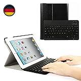 Feelkaeu Bluetooth Folio Tastatur Case Hülle für iPad 432 SlimShell Ständer Mehrfachwinkel Schutzhülle Case Cover