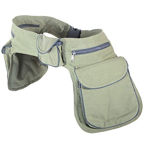 feinste Stoffe stabile Qualität hohes Ansehen Kunst und Magie Doppel Bauchtasche Sidebag Gürteltasche ...