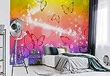 Wallsticker Warehouse Schmetterlinge Fototapete - Tapete - Fotomural - Mural Wandbild - (402WM) - XXL - 312cm x 219cm - VLIES (EasyInstall) - 3 Pieces