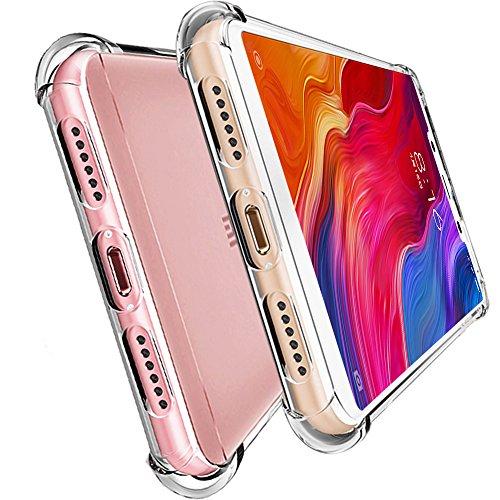 HUUH Funda Xiaomi Mi 8 Lite, Slim,TPU de Alta Transparencia Cubierta Protectora,sin deformación,Duradero,Cuatro Esquinas engrosadas