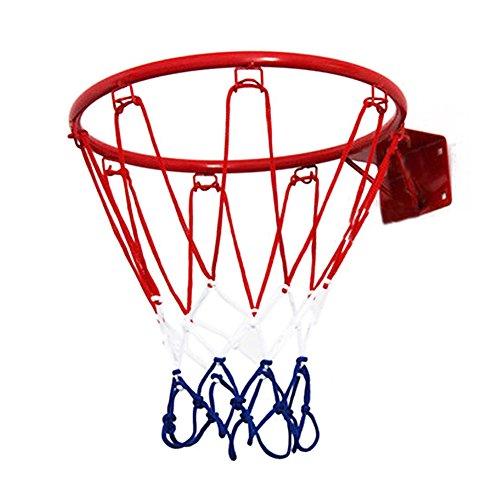 Pellor Indoor & Outdoor Hängen Wandbasketballkorb Basketball Box für Kinder (Rot-Rahmen) (Mini-basketballkorb Outdoor)