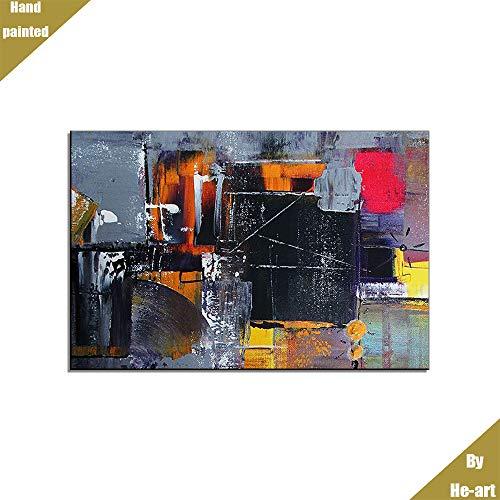 Comtemporary abstrakte Wandkunst Malerei handgemalte Leinwand Palette Messer Textur Schaber Malerei Dekoration Ölgemälde moderne rot grau gelb Wand Dekor für Wohnzimmer