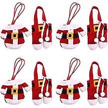 Kicode vajilla Bolsas La Gente Cuchillos Bolsa Navidad Cuchillería Paquete de 4/8 Holder En