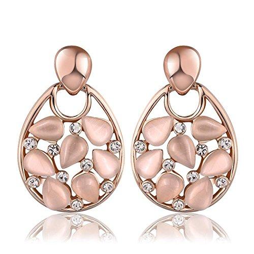 mode-grunen-fantasy-farbe-pink-ohrringe-gold-tropfen-ohrringe-ohrstecker-damen-ohrringe