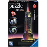 Ravensburger - 12566 1 - Empire State Building, Night Special Edition, Puzzle 3D Building con LED, 216 Pezzi